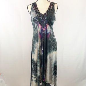 One World Printed Slip Dress Women's Medium